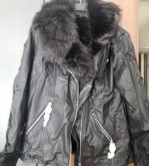 Kožna jakna M/L nova