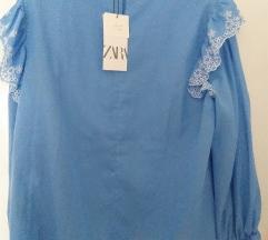 Zara bluza azur vel L  NOVO