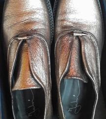 Fabi platinaste kožne cipele