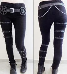 70€ Goth/industrial skinny pentagram leggings Free
