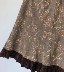 Ukrašena suknja sa satenskim volanom