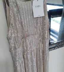 Zara zlatna haljina %