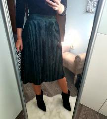 Zara baršun suknja