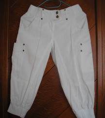 Y.O.U. laneni kratke cargo hlače capri