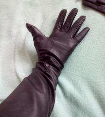 Duge crne rukavice