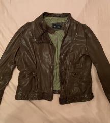 Massimo Dutti kožna smeđa jakna