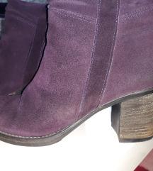Ljubičaste čizme brušena koža br 39