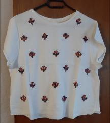 Bijela Zara majica kratki rukav