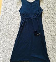 Predivna midi tamnoplava haljina vel S