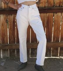 Levisice 501 bijele NOVE visok struk hlače