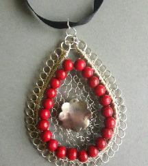 Unikatna ogrlica sa privjeskom od žice