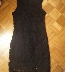 Crna cipka haljina 38
