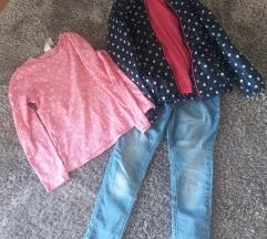 Lot jaketa lagana OVS, traperice i majica C&A