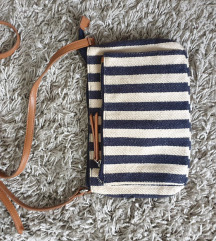 Prugasta torbica platnena