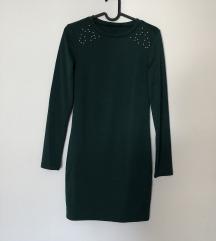 Sinsay smaragdno zelena haljina