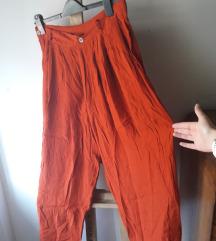 Narančaste vintage hlače od viskoze