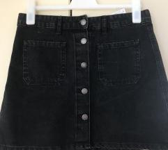 Retro traper suknja s gumbicima