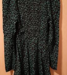 Crno zelena haljina
