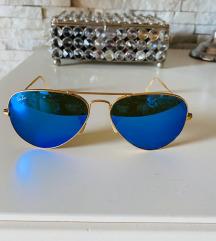 Ray Ban aviator plave naočale