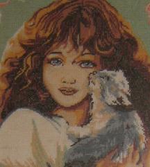 goblen djevojčica sa macom