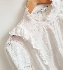 ZARA crochet bijela košulja