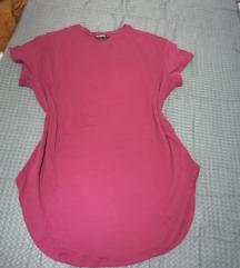 oversize majica bordo