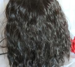 Tamno smeđa perika vlasulja sa etiketom NOVO