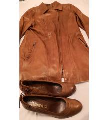 Kožna jakna i kožne Lizard cipele 41