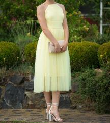 Žuta svečana haljina