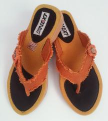 Japanke narančaste sandale vel. 39