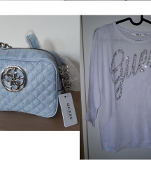 Lot: GUESS original torba i majica, pt gratis