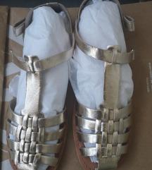 Zara zlatne sandale 39,realni 38