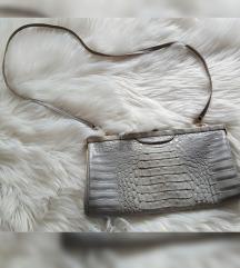 Vintage torbica, zmijska koža