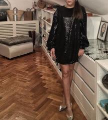 H&M šljokičasta haljina/tunika