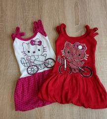 2 Hello Kitty haljinice vel. 80
