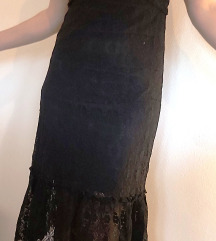 Lagana čipkasta slojevita ljetna haljina