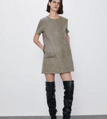 NOVO Zara kaki haljina sa dzepovima