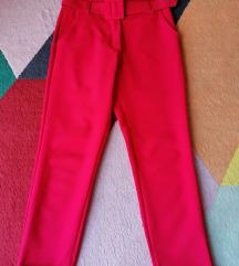 Crvene hlače visoki struk S vel.