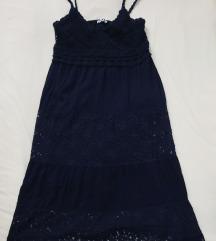 Nova tammoplava haljina s čipkom - %