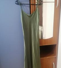 Maslinasta slip haljina