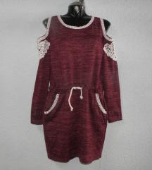 pletena ljubičasta haljina tunika