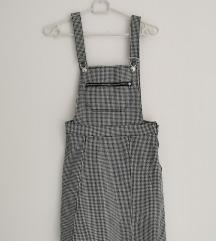 Kratka karirana kombinezon suknja