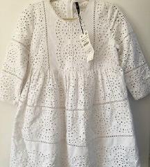 Zara bijeli čipkasti kombinezon