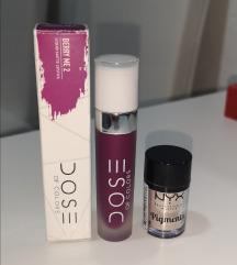 Dose of Colors mat ruž i Nyx pigment