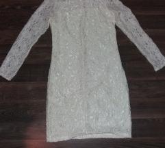 Nova čipkasta haljina vel 38