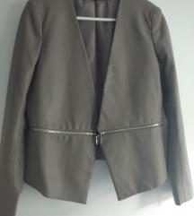 Zara siva jakna kožna