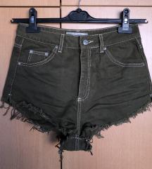 SNIŽENO! TOPSHOP Maslinasto zelene kratke hlače