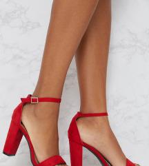 NOVO crvene sandale na blok petu