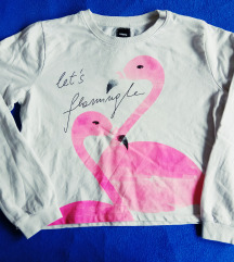 Crop majica sa flamingosima