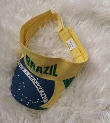 Brazil sportska šilt kapa bez tjemenice